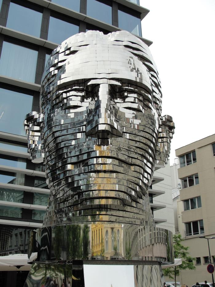 things-to-do-in-prague-franz-kafka-moving-head-sculpture.jpg Things to do in Prague---Visit Franz Kafka's kinetic sculpture