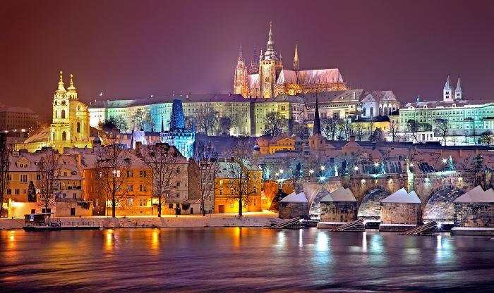 things-to-do-in-prague-at-night.jpg Wander along the banks of River Vlatva overlooking Charles Bridge - Things to do in Prague